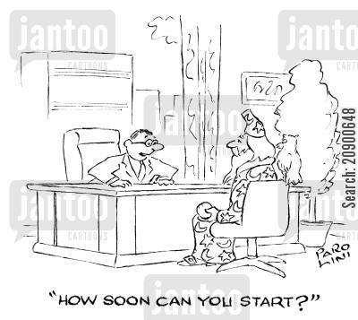 secret weapons cartoon humor: 'How soon can you start?'