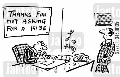 line manager cartoon humor: Thank You For Not Asking For A Pay Rise