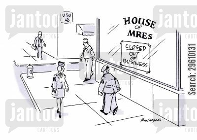air force cartoon humor: House of MREs.