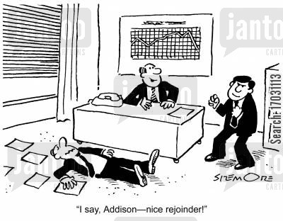 employe cartoon humor: 'I say, Addison