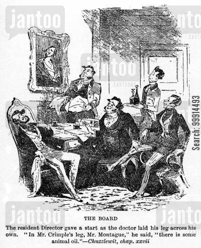 martin chuzzlewit cartoon humor: The Board