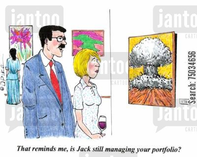 annuities cartoon humor: 'That reminds me, is Jack still managing your portfolio?'