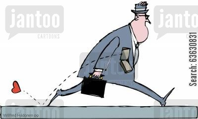 bureaucracy cartoon humor: The bureaucrat on his way to work...