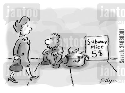 busk cartoon humor: Subway Mice $5.