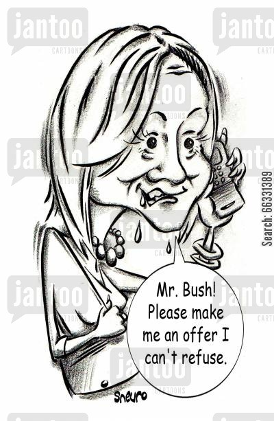 member of parliament cartoon humor: Belinda Stronach: Mr. Bush! Please make me an offer I can't refuse.