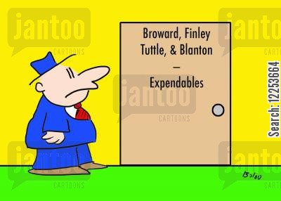 expendables cartoon humor: Broward, Finley, Tuttle and Blanton - Expendables.