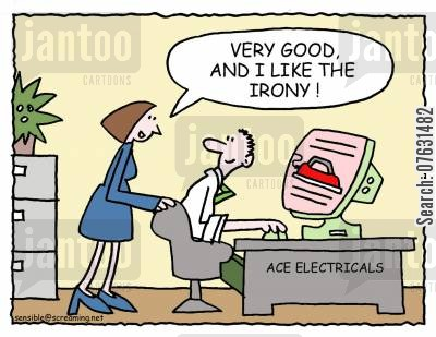 electricals cartoon humor: Very good, and I like the irony!