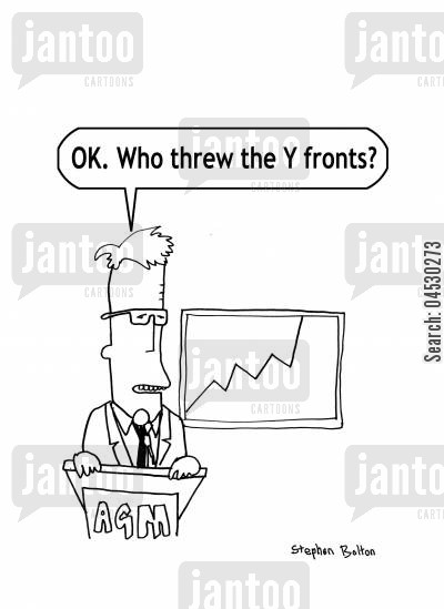 knickers cartoon humor: OK? Who threw the Y fronts?