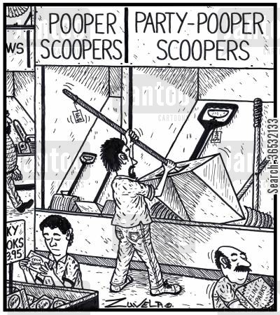 hardware shops cartoon humor: Visual Gag: Pooper Scooper Party-pooper Scooper