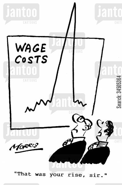 cost charts cartoon humor: That was your rise, sir.