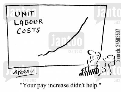 pay increases cartoon humor: Your pay increase didn't help.