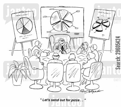 graphs cartoon humor: 'Let's send out for pizza..'