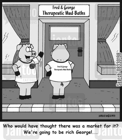 alternative remedies cartoon humor: 'Who would have thought there was a market for it? We're going to be rich George!...'