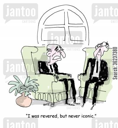 reveres cartoon humor: 'I was revered, but never iconic.'