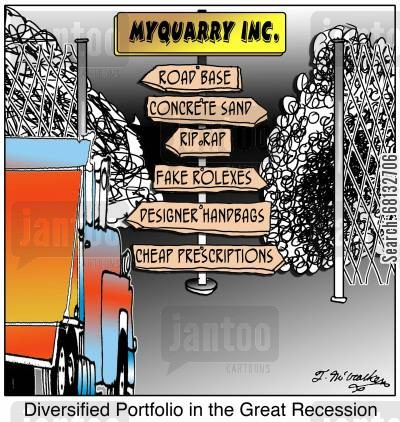 rolexes cartoon humor: Diversified Portfolio in the Great Recession.
