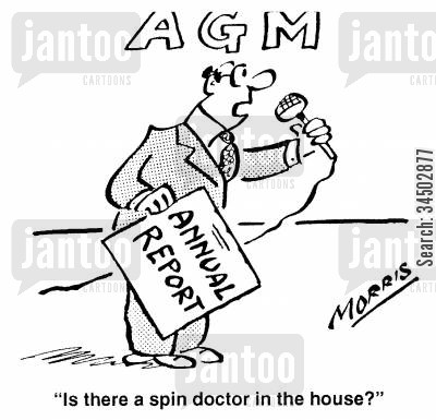 concealing cartoon humor: Is there a spin doctor in the house?