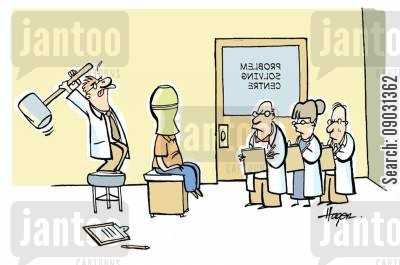 centres cartoon humor: Problem solving centre.