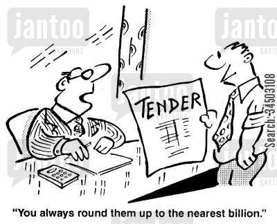 round ups cartoon humor: You always round them up to the nearest billion.