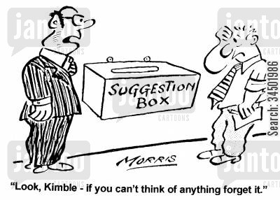 emptiness cartoon humor: Look, Kimble - if you can't think of anything forget it.