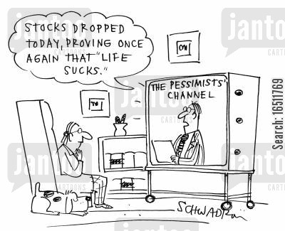 falling stocks cartoon humor: 'Stocks dropped today, proving once again that life sucks.'