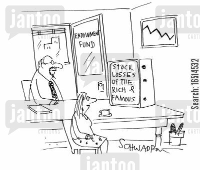 stock losses cartoon humor: Stock Losses of the Rich and Famous.