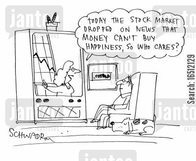 share holders cartoon humor: Stock market update