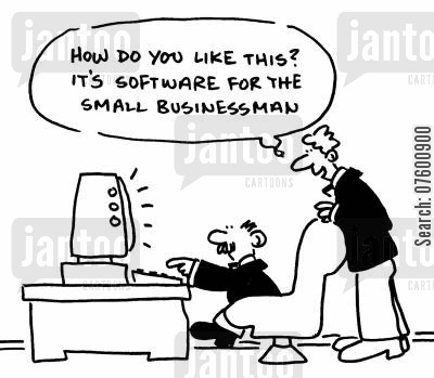 software program cartoon humor: Software for the small businessman