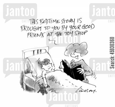 bed times cartoon humor: Bedtime story.