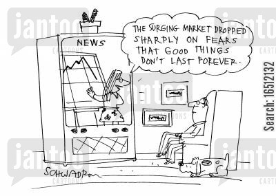finance sector cartoon humor: Stock market drops