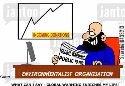 consumerizm cartoon humor: What can I say - Global warming enriches my life!