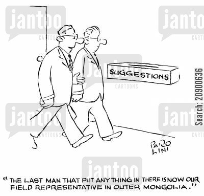 relocation cartoon humor: 'The last man that put anything in there is now our field representative in Outer Mongolia.'