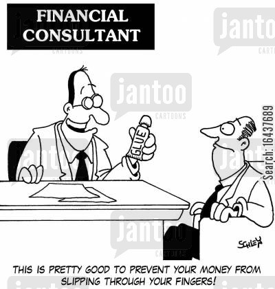 glues cartoon humor: 'This is pretty good to prevent your money from slipping through your fingers!'