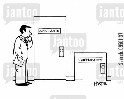 supplicants cartoon humor: ApplicantsSupplicants.