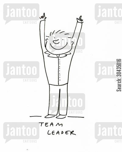 leadership skills cartoon humor: Team Leader