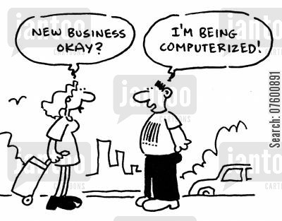 computerized cartoon humor: Job losses due to technology