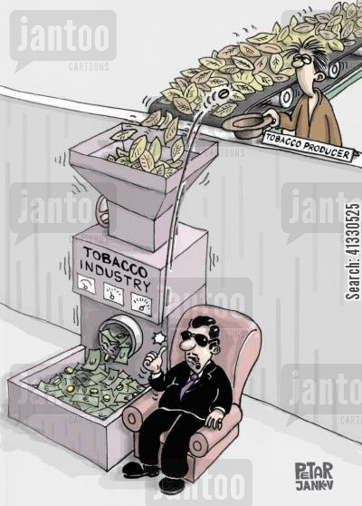 exploits cartoon humor: Tobacco Industry