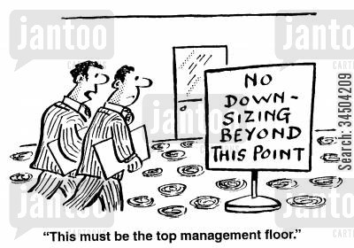dismissing cartoon humor: This must be the top management floor.