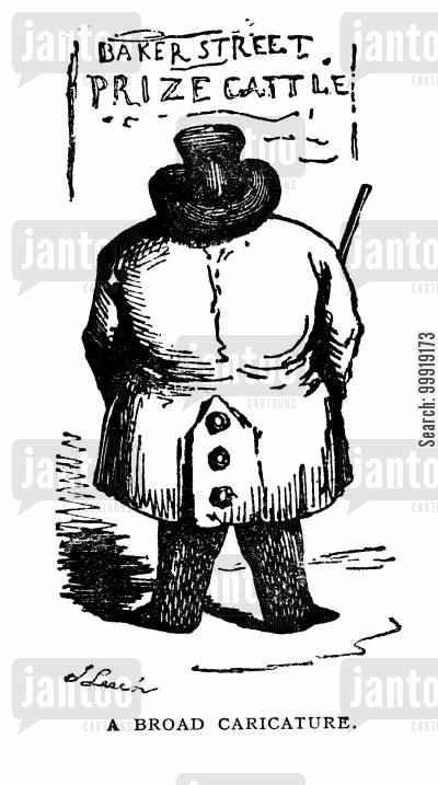 victorian farms cartoon humor: A Broad Caricature
