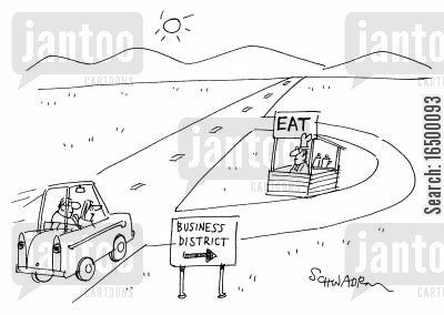 business estate cartoon humor: 'Business District'