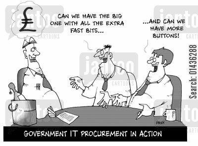 it system cartoon humor: Government procuration in action