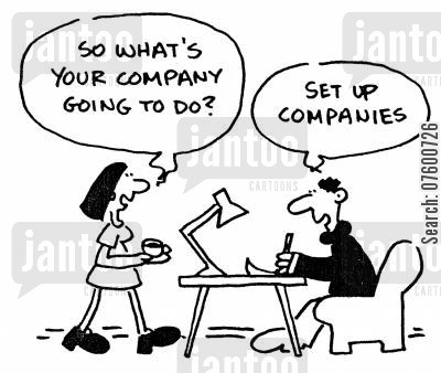 starting up cartoon humor: Setting up companies
