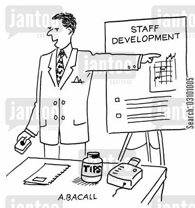 developing staff cartoon humor: Staff Development.