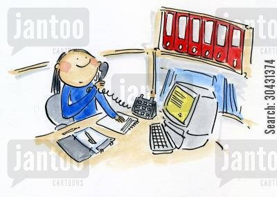 busy day cartoon humor: Busy office.