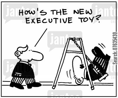 executive toy cartoon humor: How's the executive toy?