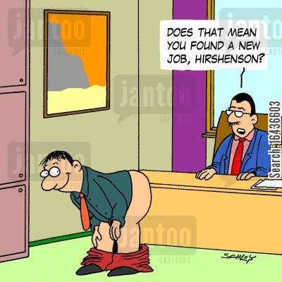 resignations cartoon humor: 'Does that mean you found a new job, Hirshenson?'