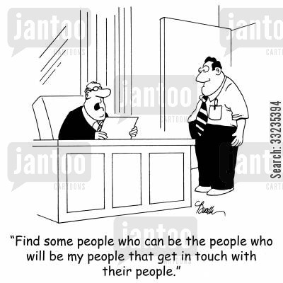 keeping in touch cartoon humor: 'Find some people who can be the people who will be my people that get in touch with their people.'