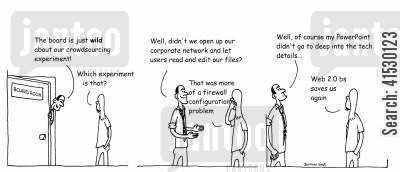 firewall cartoon humor: The crowdsourcing experiment.