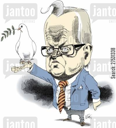 nobel peace prize cartoon humor: Martti Ahtisaari.