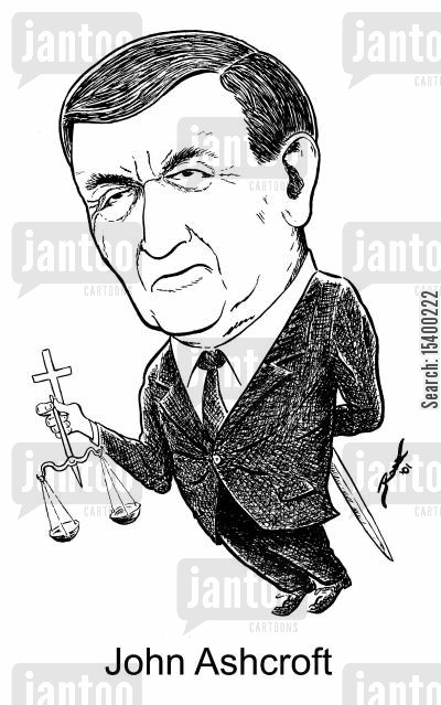 attorney general cartoon humor: Attorney General John Ashcroft