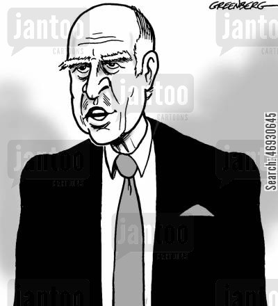 governor cartoon humor: Jerry Brown.